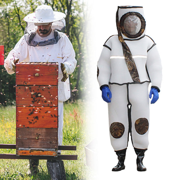 Beekeeping Protective Fullbody Clothing Jacket - White