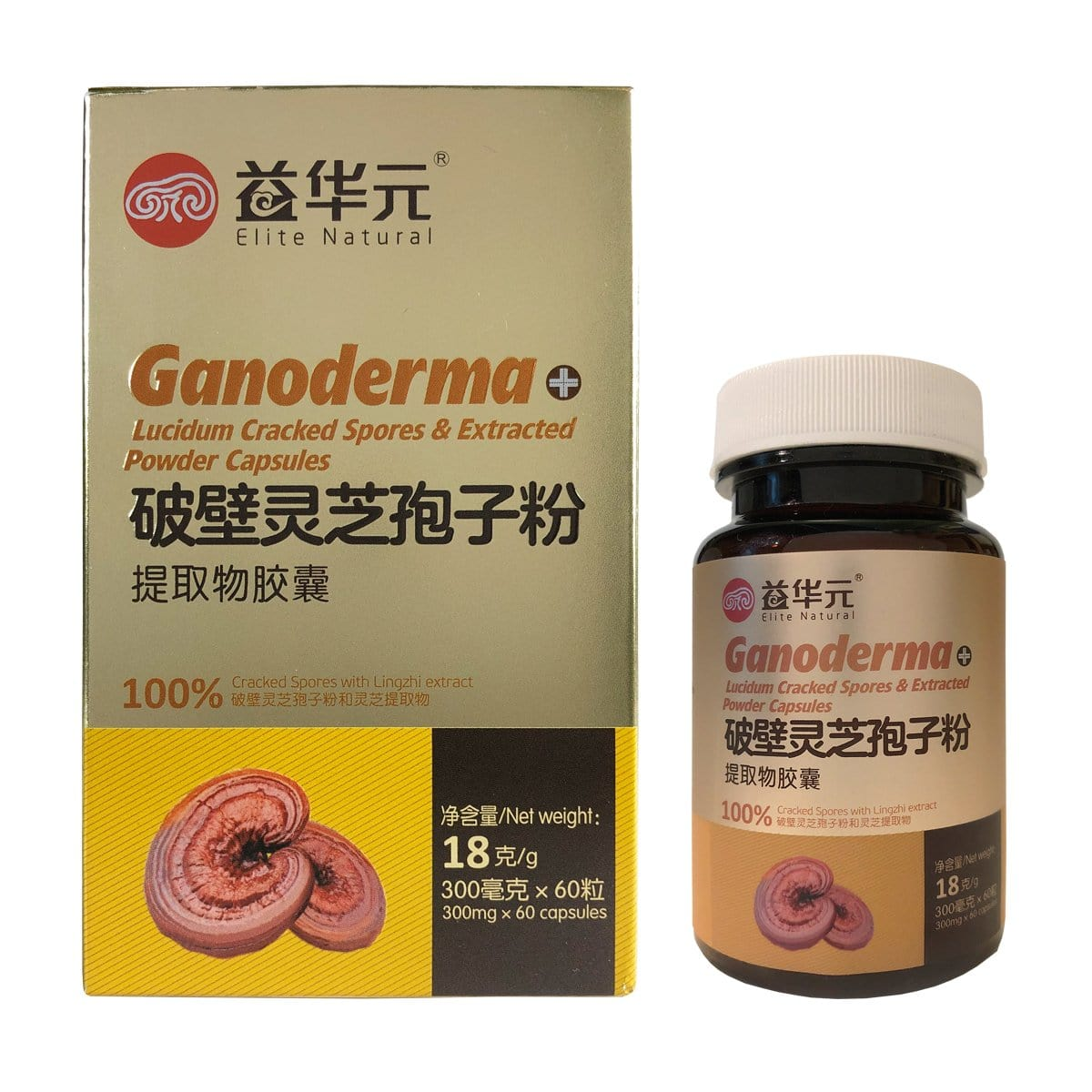 Elite Natural Ganoderma Lucidum crached spores capsule