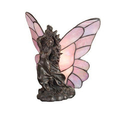 Vivid Tiffany Drifting Fairy Pink Accent Table Lamp
