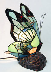 Amazing Butterfly  Tiffany Leadlight Stained Glass Art Deco Table Lamp