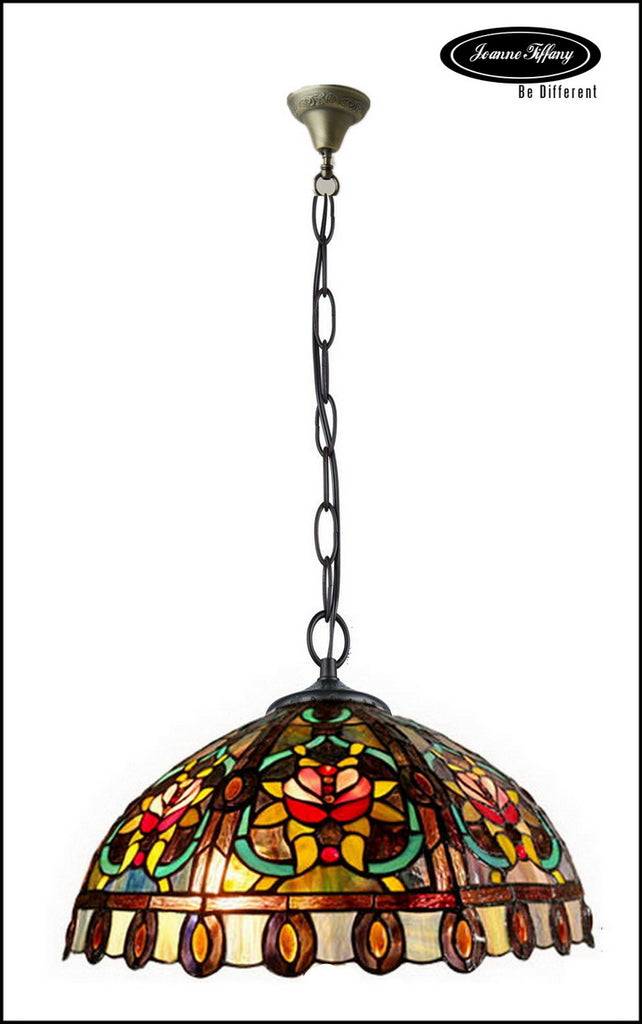 Large  Flower Style Leadlight Stained GlassTiffany  Pendant Light