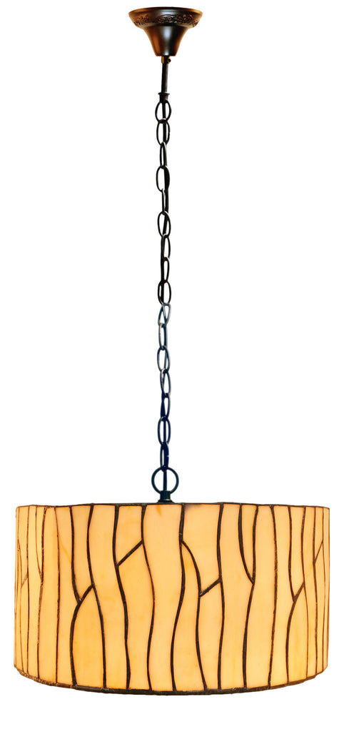 "14"" Minimalism style Drum Shade Tiffany Pendant Lights"