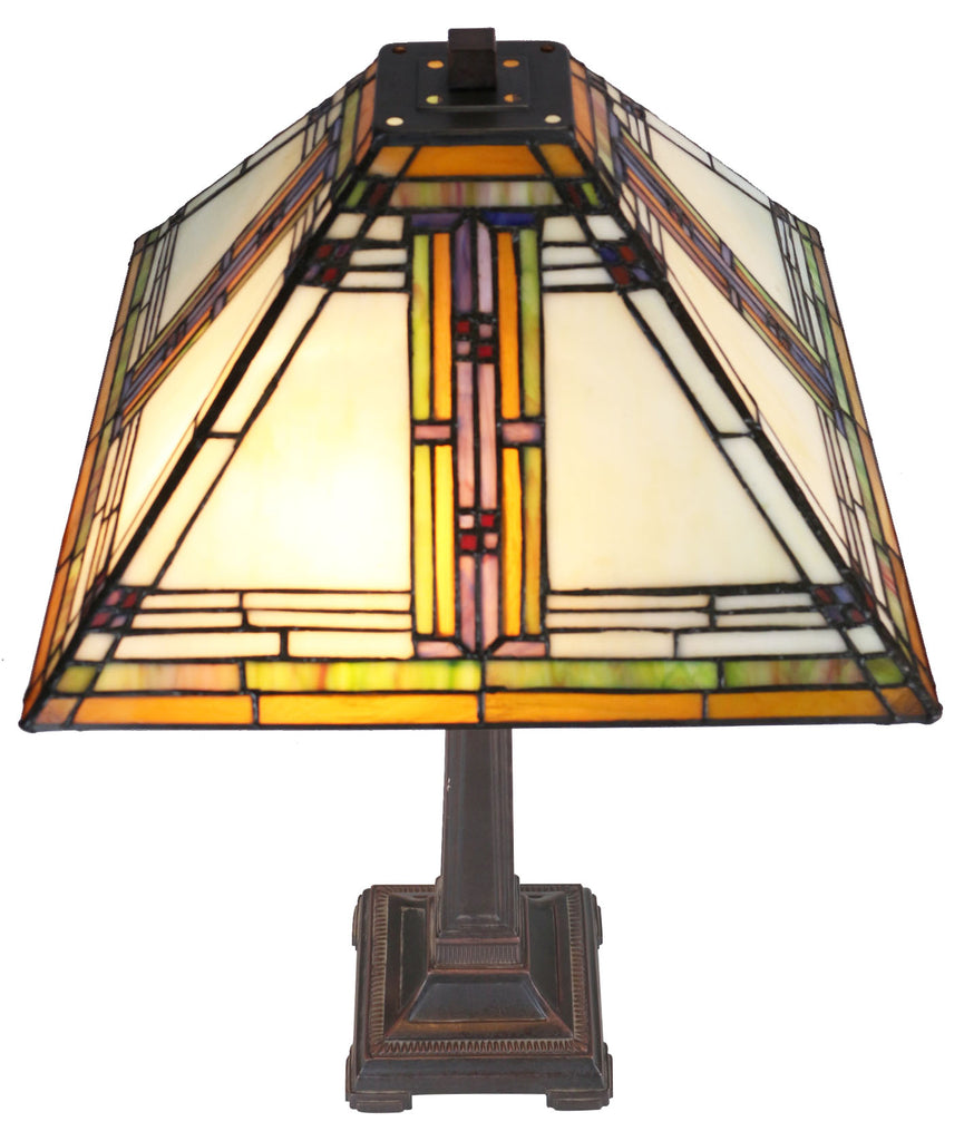 Large Classical Mission Style Tiffany Table Lamp