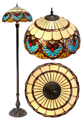 "18"" Large Boheme Style Tiffany Floor Lamp"