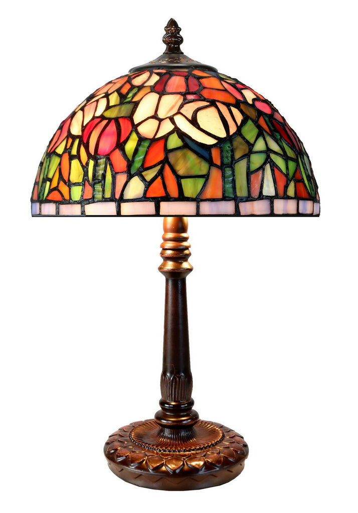 "Limited Edition ""Exquisite 10"" @10"" wide Flower Style Tiffany Bedside Lamp"