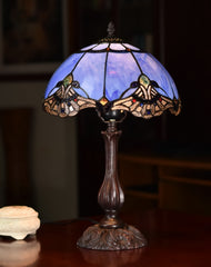 "12"" Baroque Accent Style Tiffany Bedside Lamp"