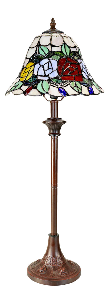 Elegant Rose Style Tiffany Buffet Lamp