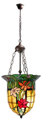 Fabulous Antique Style  iris flower Tiffany Uplihgter Pendant Lights