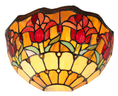 Red Colonial Tulip Style Tiffany Wall Sconces