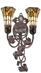 Double shade Floral Tiffany Wall lights wall light