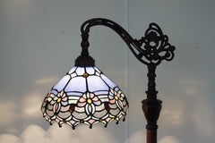 Waratah style leadlight stained glass bridge arm tiffany floor lamp mozeypictures Gallery