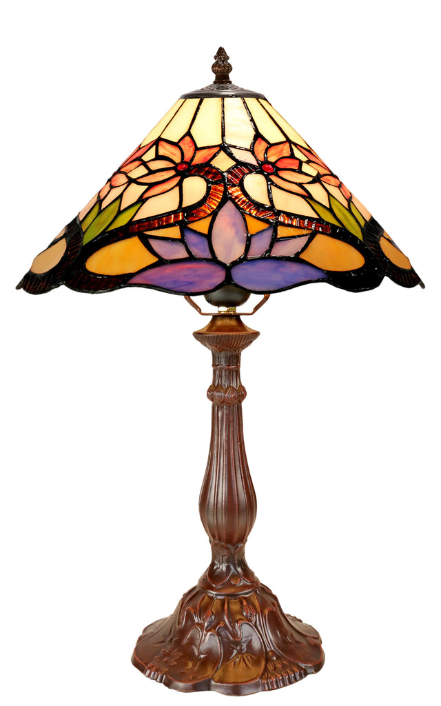 "Amazing 12""  Water Lily Style Tiffany Bedside Lamp"