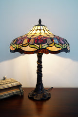 "14"" Colonial Tulip Style Tiffany Table Lamp"