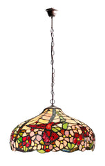 "16"" Hummingbird  Stained Glass Leadlight Tiffany Pendant Light"