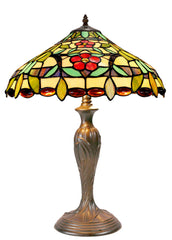 "Beautiful Daisy Flower  16"" Large  Tiffany Table Lamp"