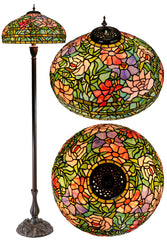 "Garden in bloom 18"" Large Flower Style Tiffany Floor Lamp"