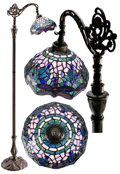 Blue Dragonfly Style Leadlight Stained Glass Bridge Arm