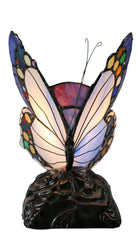 Elegant Blue Butterfly  Tiffany Leadlight Stained Glass Art Deco Table Lamp