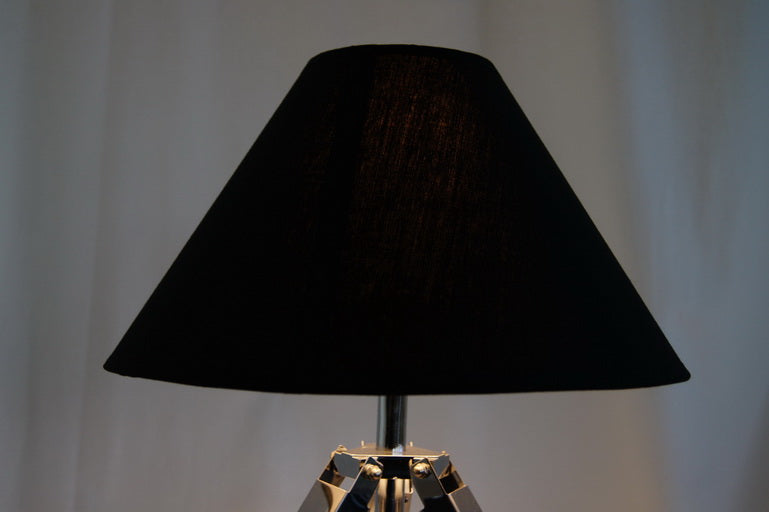 Limited Stock @Striking industrial style Tripod Table Lamp Black shade with white wooden base