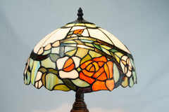 Amazing Flower Style  Stained Glass Tiffany Bedside Lamp