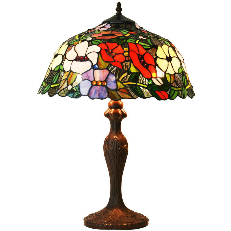 "Large 16"" Blooming Morning Glory Style Tiffany Table Lamp"