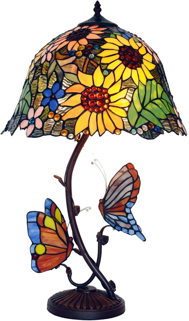 "Eye-catching collection@ 16"" inches Sunflower Style Tiffany Table Lamp @ Limited Stock only"