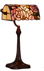 Rose Style Tiffany Banker Lamp