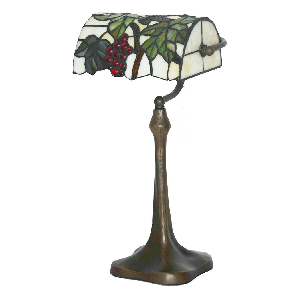 Grape Style Tiffany Banker Lamp