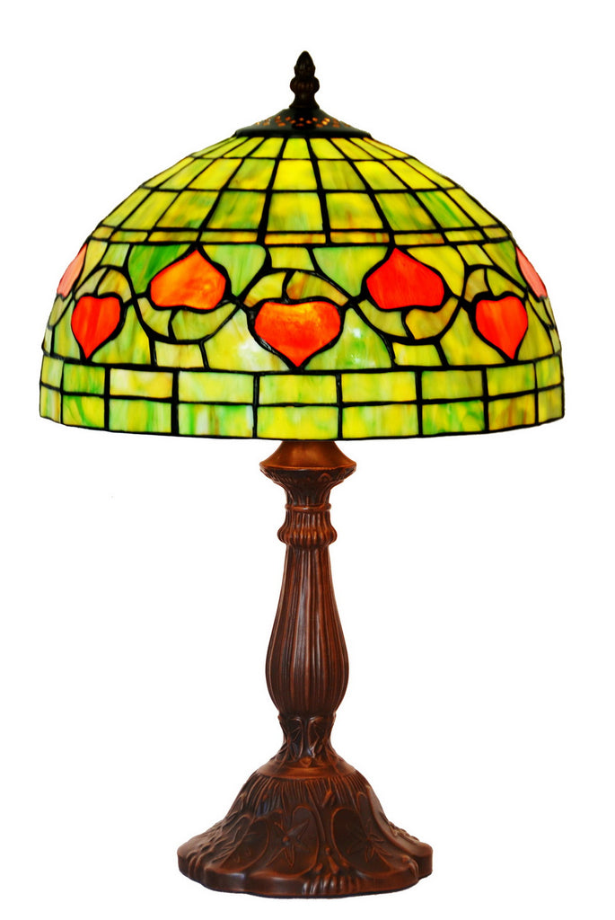 "12"" Tiffany Leadlight Stained Glass Bedside Lamp ""The Glory of Wisteria"""