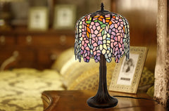 Elegant  Wisteria design Stained Glass Tiffany Table Lamp