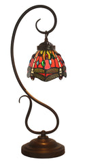 Red Dragonfly Tiffany Accent Table Lamp