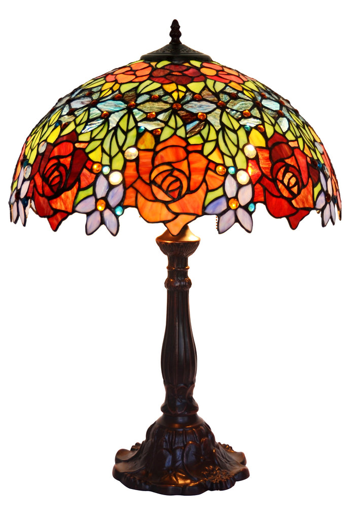 "Huge 18"" inches Blooming Rose Style Tiffany Table Lamp @ Limited Stock only"