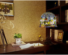 Limited Edition@Large Tiffany Reproduction Flowering Lotus Table Lamp