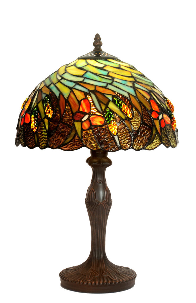 "Amazing 12"" Butterfly Tiffany Bedside Lamp"