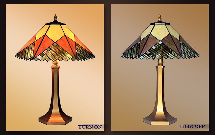 Large Mission Style Tiffany Table Lamp