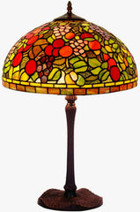 "Legend Collection@Large 16"" Flowering crabapple Stained Glass Tiffany Table Lamp"