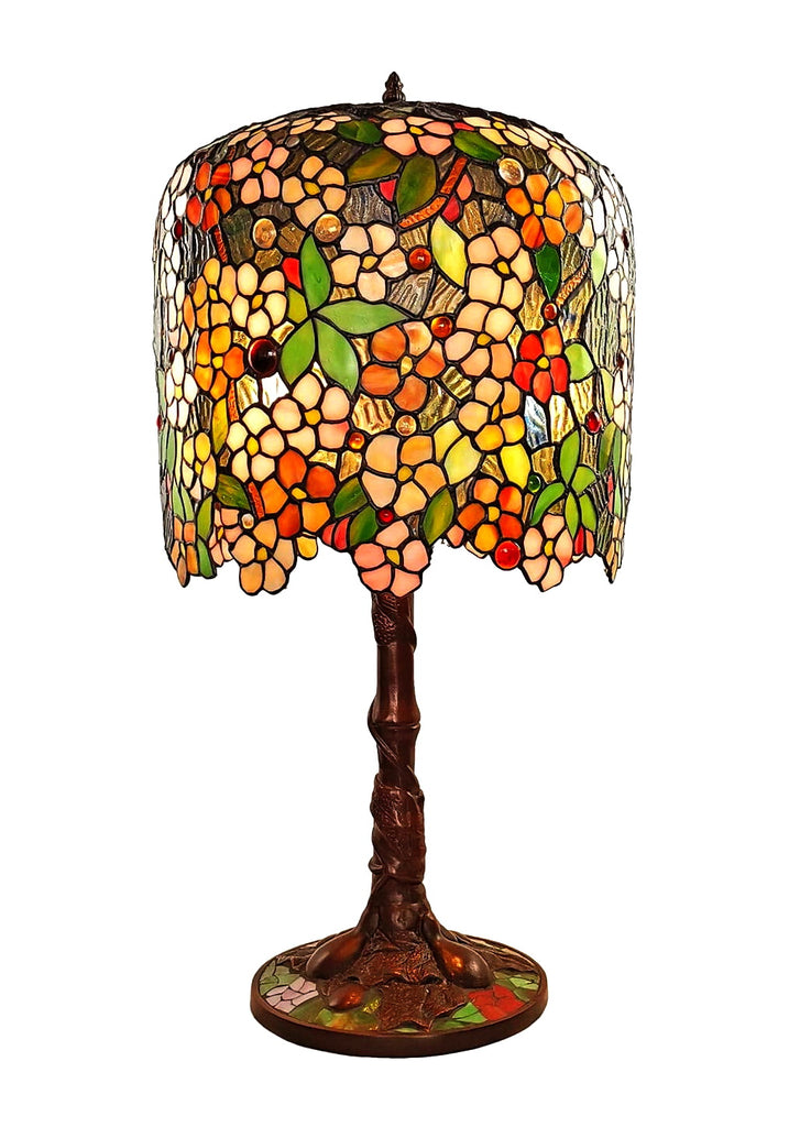 Limited Edition@Museum Quality  apple blossom Tiffany Stained Glass Table Lamp