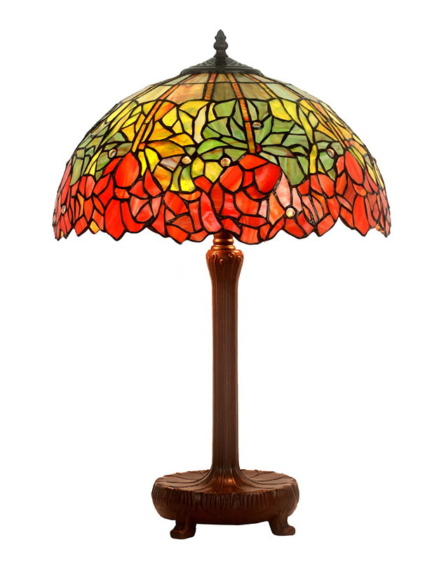 "Legend Collection@Large 16"" Water Lily Stained Glass Tiffany Table Lamp"