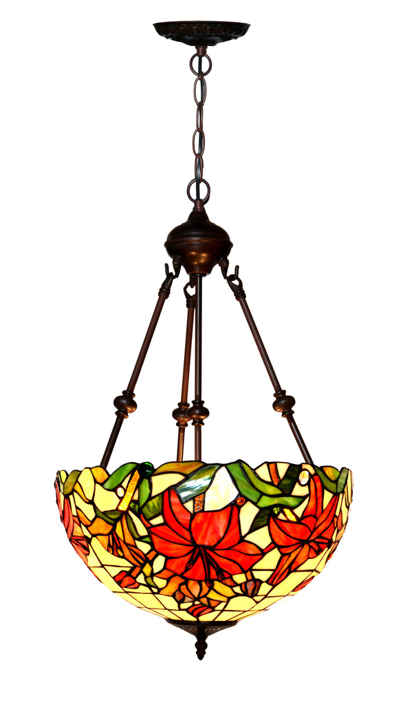 "Large 16"" Flower style  Tiffany Uplihgter Pendant Lights"