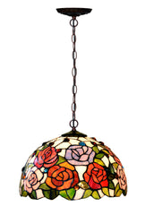 "12""  Garden of Rose Tiffany Downlight Pendant light"