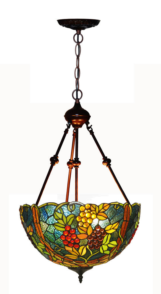 "Large 17"" Grape style  Tiffany Uplihgter Pendant Lights"
