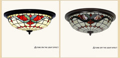 Large  3 lights Baroque Tiffany Style  Flush Mount Ceiling Lights