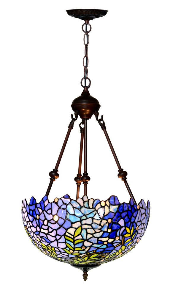 "Large 16"" Blue Wisteria style  Tiffany Uplihgter Pendant Lights"