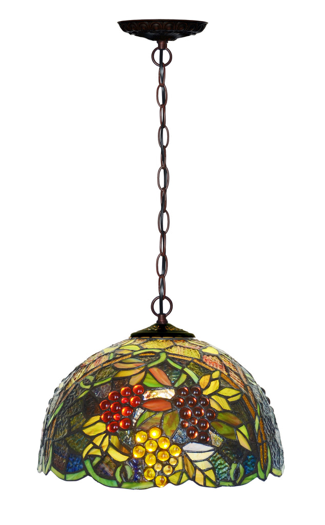 "12"" Traditional Grape Style Tiffany Hanging light"