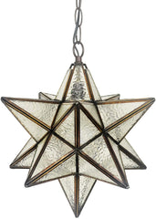 Vintage Style Star Shade Stained Glass Leadlight Tiffany Pendant Light *Limited