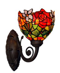 Floral Red  Tiffany Wall lights Up lights wall Sconce