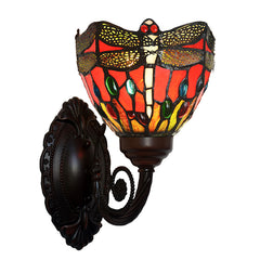 Dragonfly Red Tiffany Wall lights wall Sconce