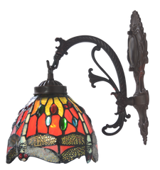 Dragonfly Red Tiffany Wall down lights wall Sconce