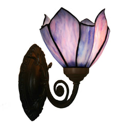 Pink-Blue Lotus Tiffany Wall up lights wall Sconce
