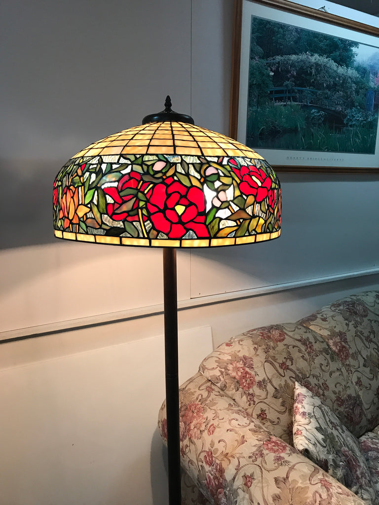 "Limited Editon Hugh 20"" Flower Style Leadlight Tiffany Floor Lamp"